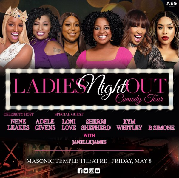 None - Win tickets to Ladies Night Out Comedy Tour