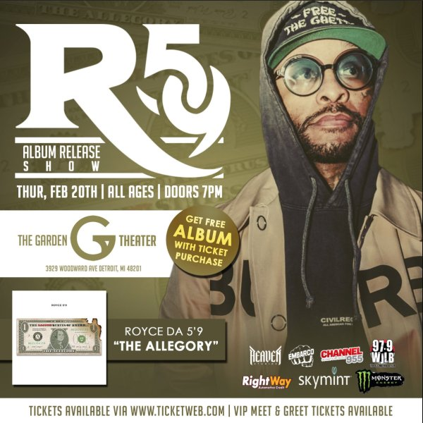 None - Win tickets to Royce Da 5'9