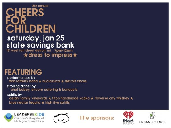 None - Win tickets for the 8th Annual Cheers For Children