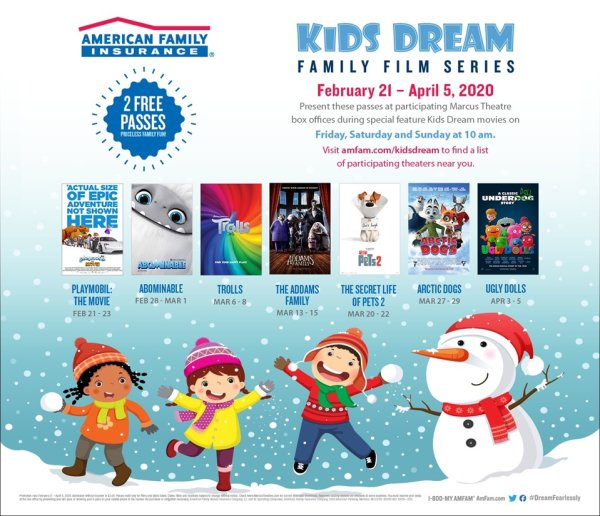 image for Kids Dream Winter Family Film Series