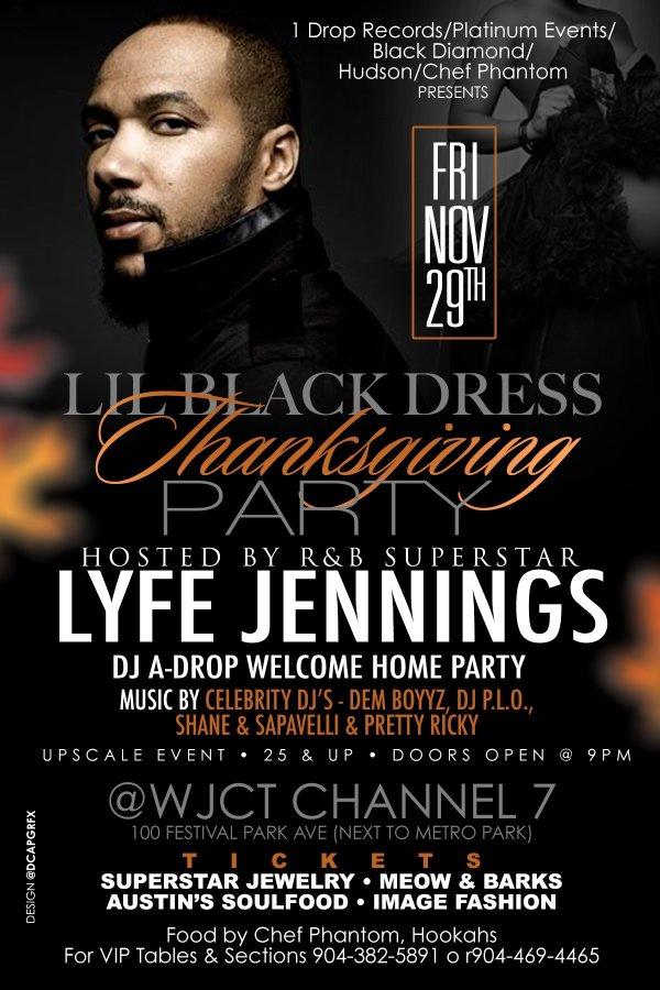 None - Lyfe Jennings Lil Black Dress Thanksgiving Party