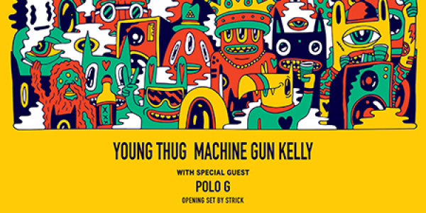 None - Young Thug and Machine Gun Kelly at Wells Fargo Arena