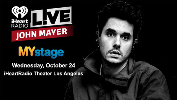 None - John Mayer LIVE on the MYstage at the iHeartRadio Theater (10/24) (Pair)