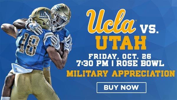 None -  UCLA vs Utah Utes at Rose Bowl (10/26) (PAIR)