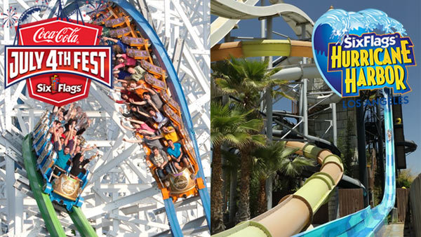 Win Tickets to Six Flags Magic Mountain AND Six Flags Hurricane Harbor (4-packs)