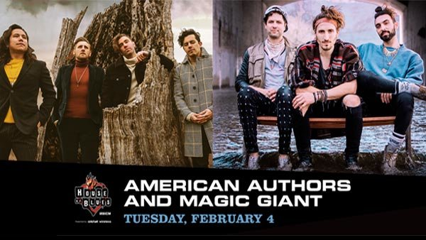 None - American Authors at HOB Anaheim (2/4/20)