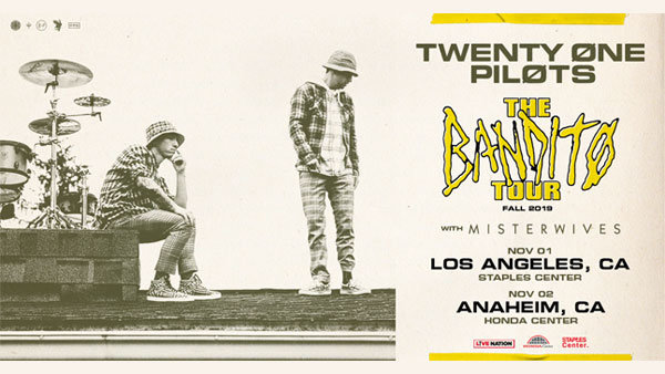 None - Win Tickets to the SOLD OUT Twenty One Pilots show at HONDA Center (11/2)