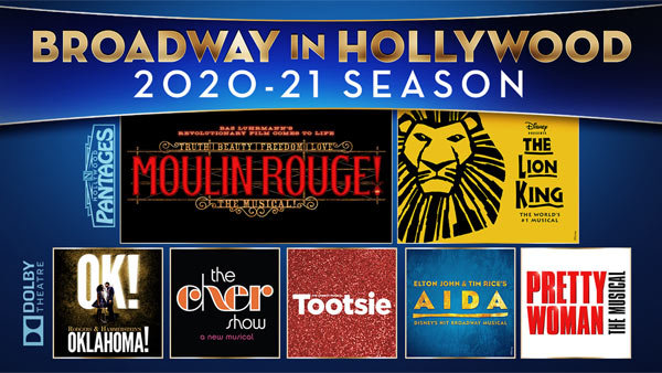 image for Win Tickets to the Entire BROADWAY IN HOLLYWOOD 2020-21 Season at the Hollywood Pantages and Dolby Theatres