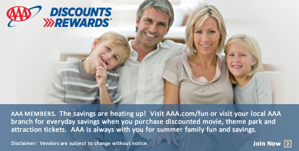 None - Enter to win amazing AAA prizes! Find more discounts at AAA.com/fun