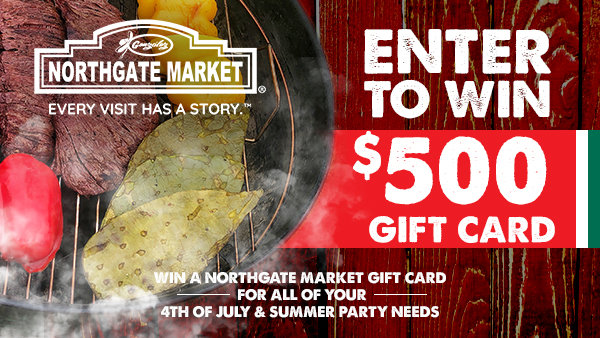 None - Enter to win a $500 Northgate Market Gift Card