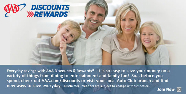 None - Enter to win amazing AAA prizes! Find more discounts and rewards at AAA.com/Discounts