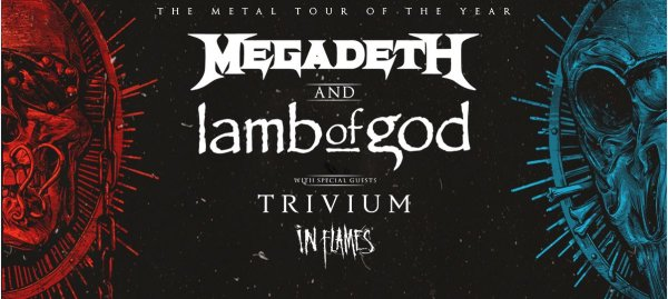 image for Win 2 Pit Tickets to see Megadeth