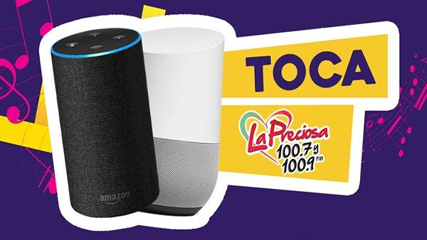 None -   ¡Escucha 100.7 y 100.9 la Preciosa en Amazon Alexa y Google Home!
