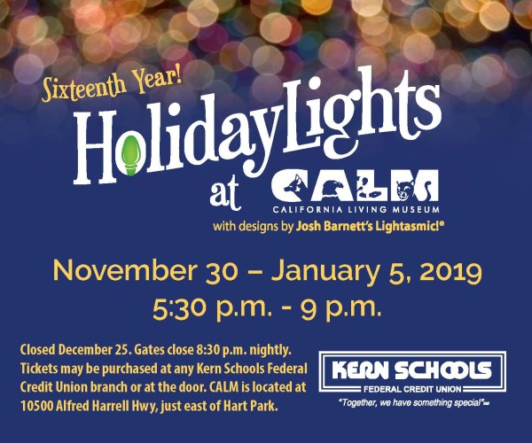 None - Win Tickets to Holiday Lights at CALM!