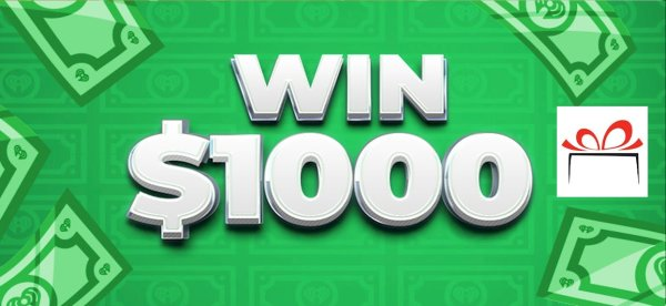 None -  Win $1,000 Cash Weekdays Brought To You By The Gift Horse
