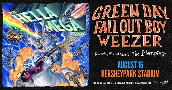 None - Win Tickets To the Hella Mega Tour Feat. Green Day, Weezer and Fall Out Boy!