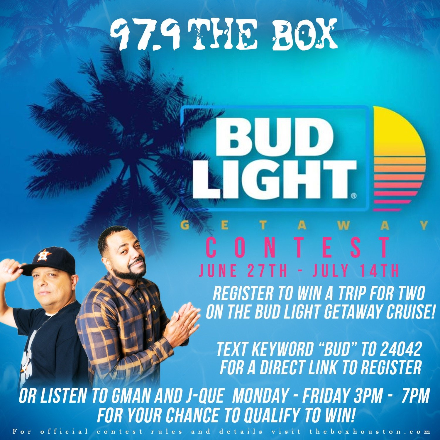 Register To Win A Trip For Two On The Bud Light Getaway Cruise