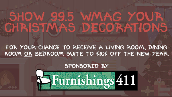 None - VOTE: Show 99.5 WMAG Your Christmas Decorations & Win!