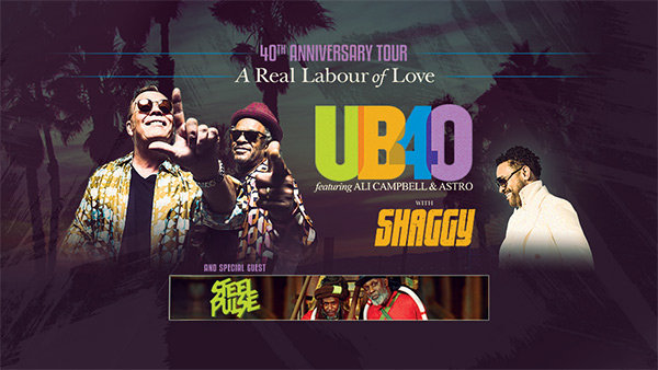 None - UB40 40th Anniversary Tour: A Real Labour of Love Tickets