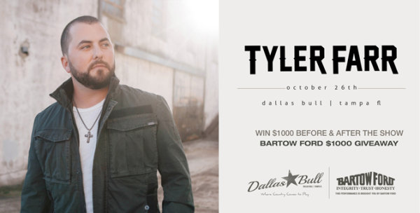 None -  Win Tickets to See Tyler Farr at Dallas Bull!