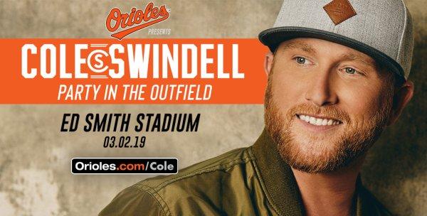 None - Cole Swindell at Ed Smith Stadium