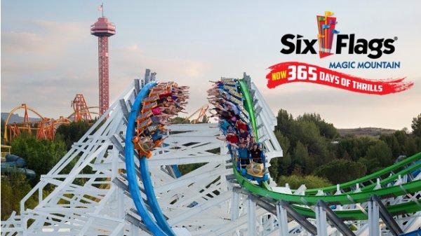 None - Win Six Flags Magic Mountain Season Passes