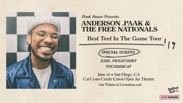 None - Win Anderson .Paak Tickets