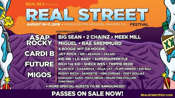 None - Win Real Street Festival Passes featuring A$AP Rocky, Cardi B, Future, Migos & More