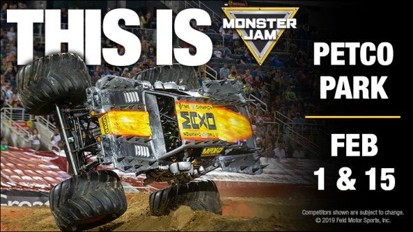 None - Win Tickets + Pit Passes to Monster Jam on February 1