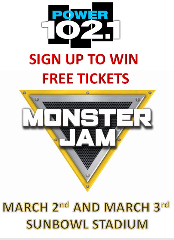 None - WIN FREE TICKETS TO MONSTER JAM!!