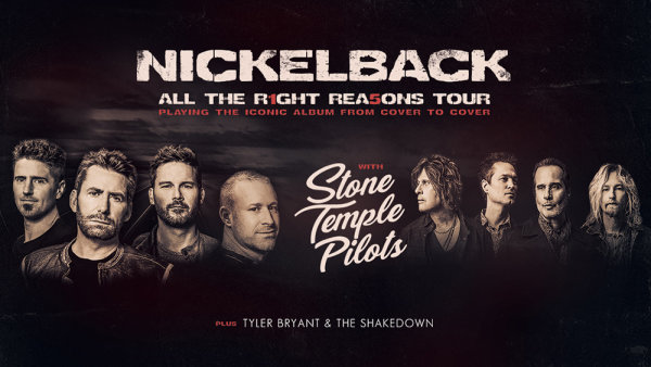 None - Win tickets to see Nickelback in Charlotte!