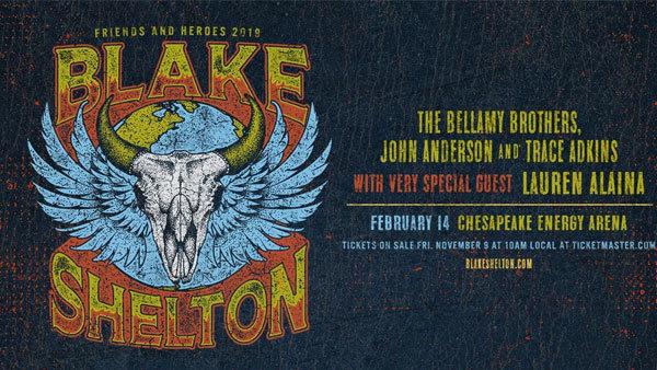 None -  Win Tickets to Blake Shelton - 2/14/19 - Chesapeake Arena