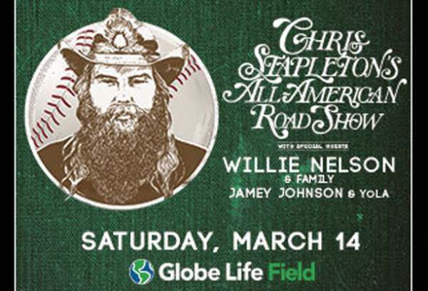 image for Win Chris Stapleton Tickets For Globe Life Field 3/14/20 In Arlington, TX