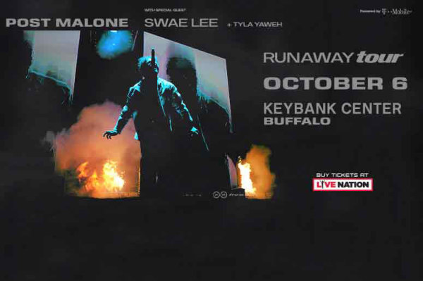 None - Win tickets to Post Malone at KeyBank Center!