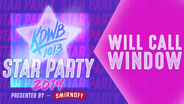 None - Enter the KDWB Star Party Will Call Window