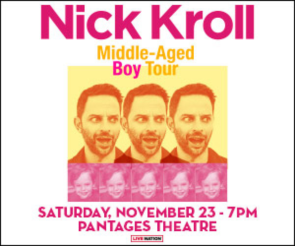 None - Enter to win tickets to The Middle Aged Boy Tour with Nick Kroll!