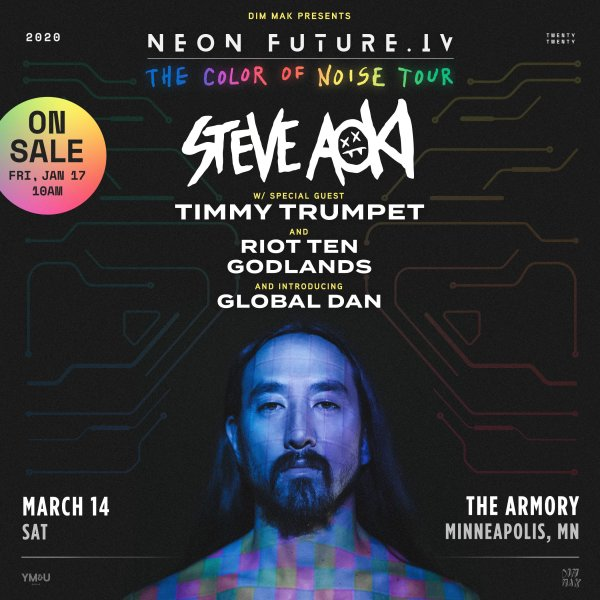 None - Enter to win tickets to see Steve Aoki!