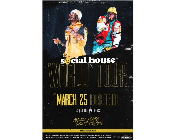 None - Enter to win a pair of tickets to see Social House!