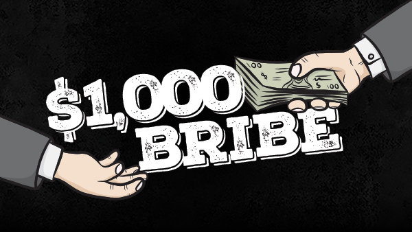 None - $1,000 Bribe on WZLX