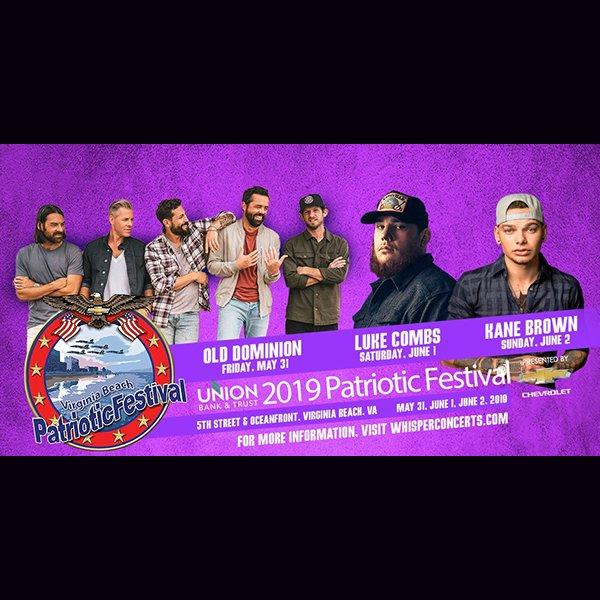 None -  Listen to Win Tickets to the Patriotic Festival in Virginia Beach!