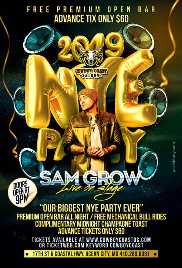None - New Years Eve at Cowboy Coast with Sam Grow