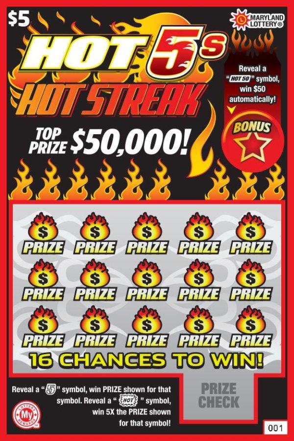None - Maryland Lottery Hot 5's Hot Streak