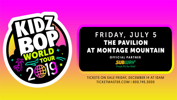 None - Win a row of tickets to Kidz Bop at Montage Mountain