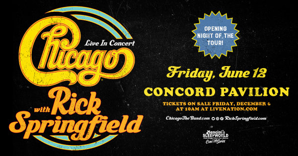 None - Win tickets to see Chicago with Rick Springfield!