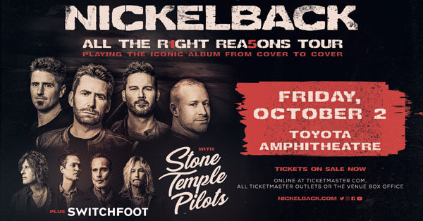 None - Win a Pair of Tickets to see Nickelback!