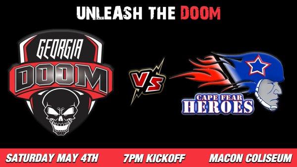 None -    Georgia Doom vs Cape Fear Heroes Tix