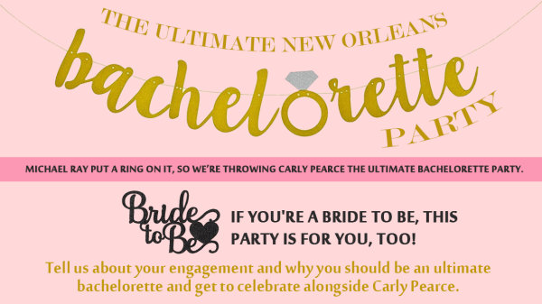 None -  Carly Pearce's Ultimate Bachelorette Party!