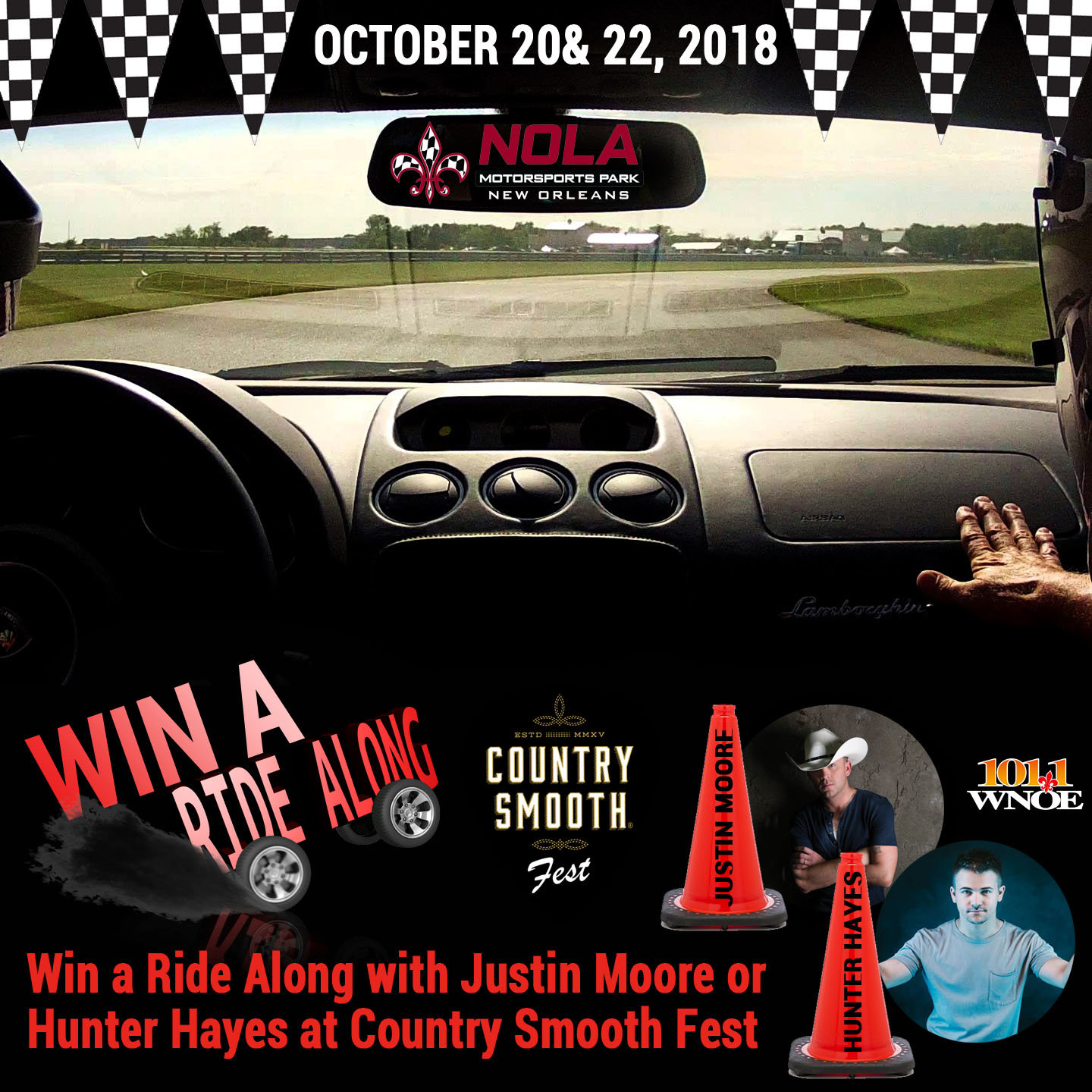 Win A Ride Along With Justin Moore Or Hunter Hayes At Country Smooth