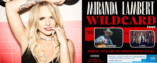 None - Win tickets to see Miranda Lambert!