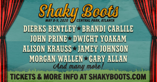 None - Win tickets to the Shaky Boots Festival!